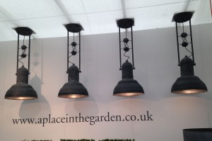 Beautiful Zinc pendant lights by A Place in the Garden
