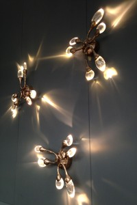 Stand by Ochre at Decorex displaying the magical Damselfly wall lights