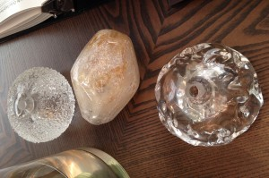 Choice of crystal heads for Natural Inspirations by Fine Art Lamps