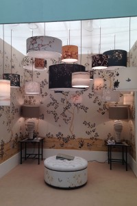Best and Lloyd lamps with Fromental wall covering